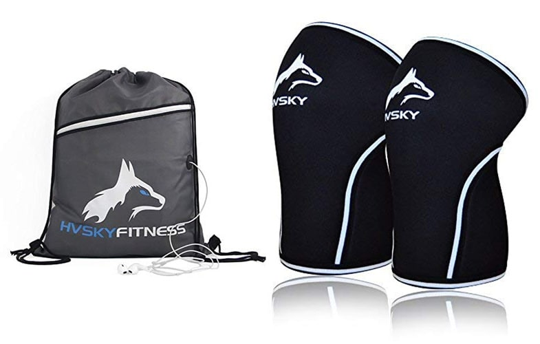 Hvsky Fitness Knee Sleeves With Gym Bag