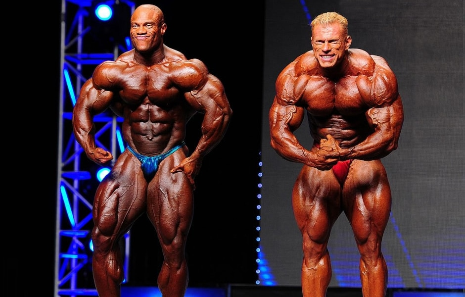 Phil Heath And Dennis Wolf At Mr Olympia
