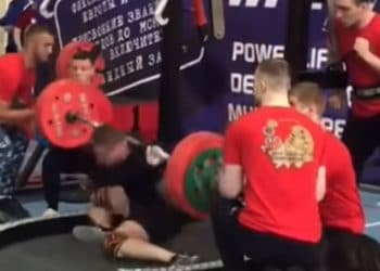 8df7cdeabb WATCH: Powerlifter Snaps Leg In 3 Places Squatting 250kg. Powerlifting