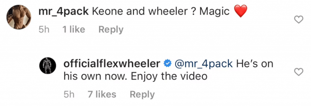 Flex Wheeler And Pj Braun Exchange