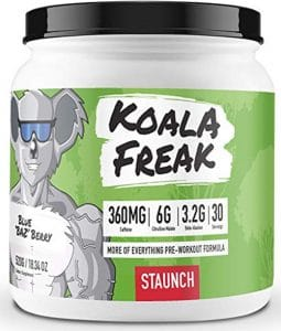 Staunch Pre Workout Koala Freak