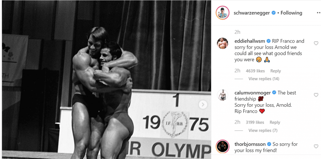 Bodybuilding Reacts To Death Of Franco Columbu