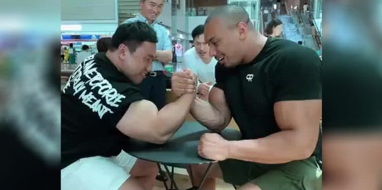 Larry Wheels Arm Wrestles