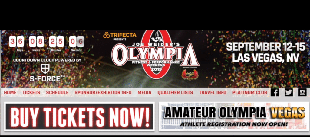 Mr Olympia Ticket Sales