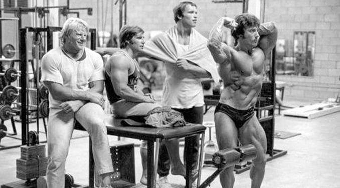 Arnold In Gym