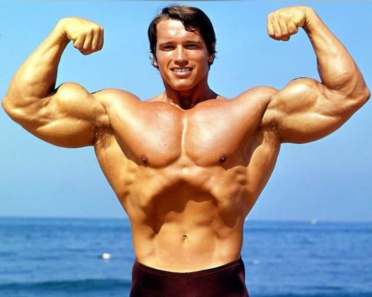 Arnold Schwarzenegger Front Double Bicep