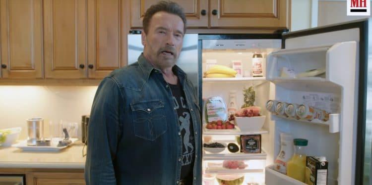 Arnold Schwarzenegger Shows His Gym & Fridge