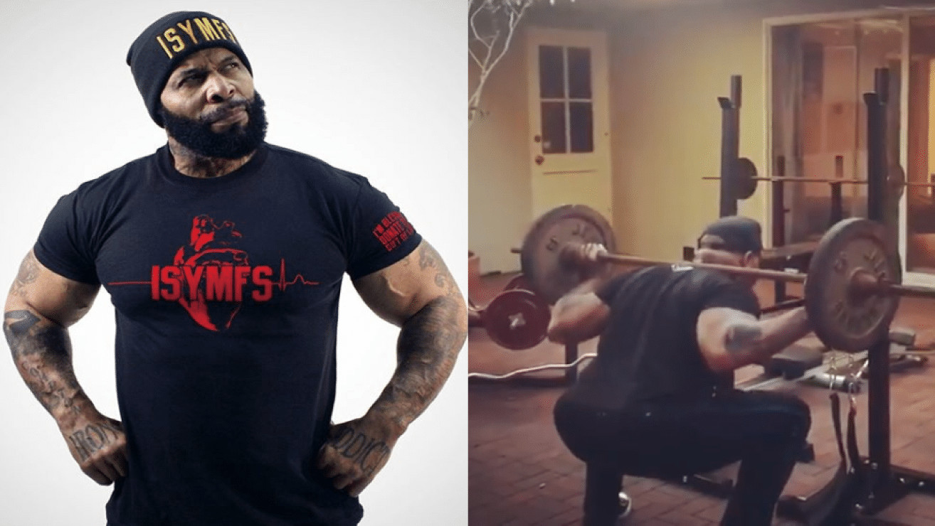 CT Fletcher Back To Weight Training With Back Squats