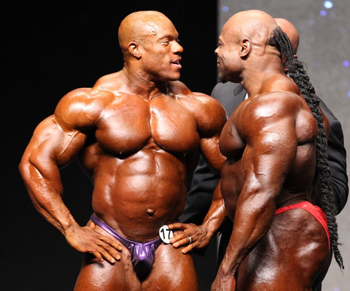Kai And Phil Heath At Mr Olympia