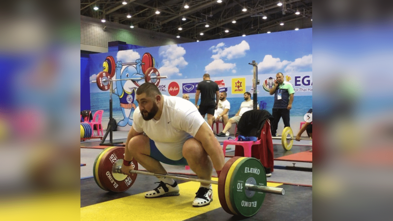 Lasha Talakhadze Crushes 286.5lb No Contact Snatch Triple