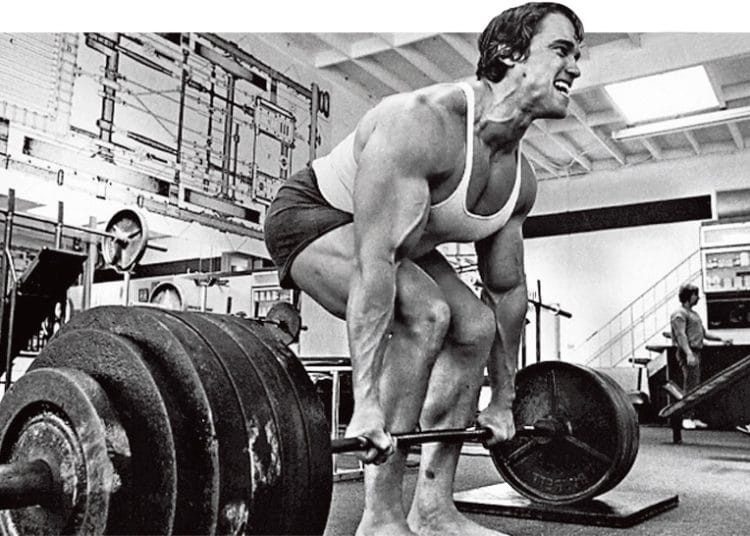 Arnold Doing Deadlift