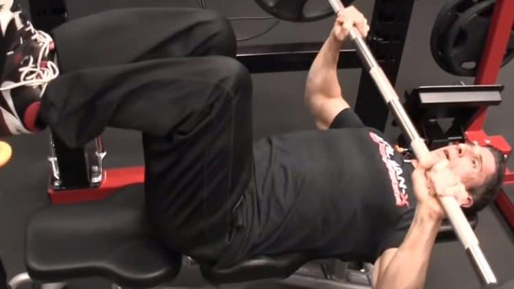 Bench Press Leg Elevated