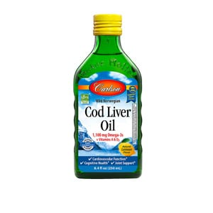 Carlson Cod Liver Oil 1100 Mg Omega 3s