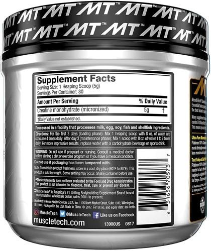 Platinum Creatine Monohydrate Facts