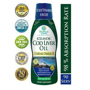 Tropical Oasis Icelandic Cod Liver Oil