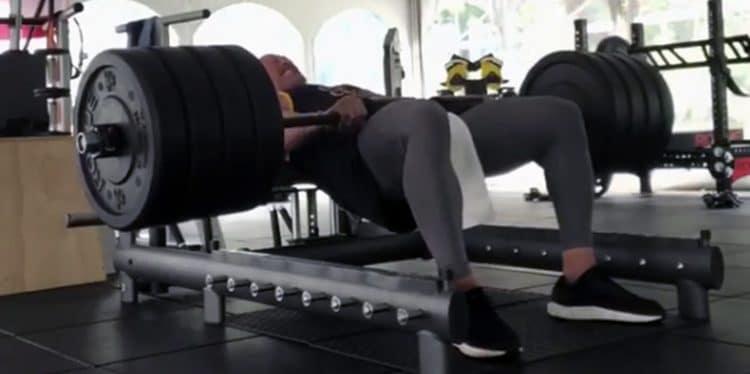 Dwayne Johnson Doing Hip Thrust