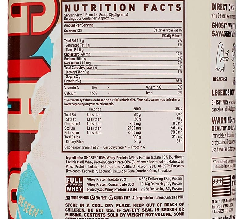 Ghost Whey Protein Ingredient