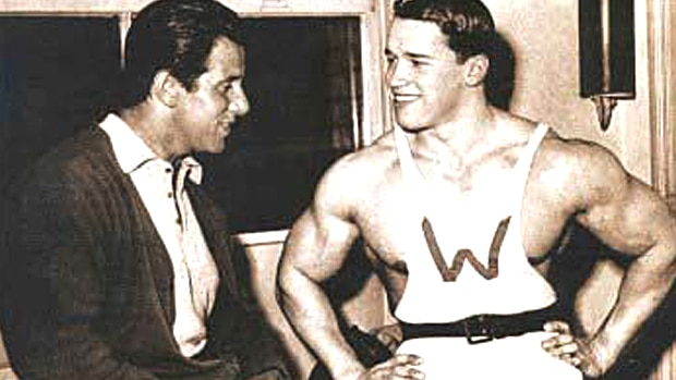 Reg Parks With Arnold
