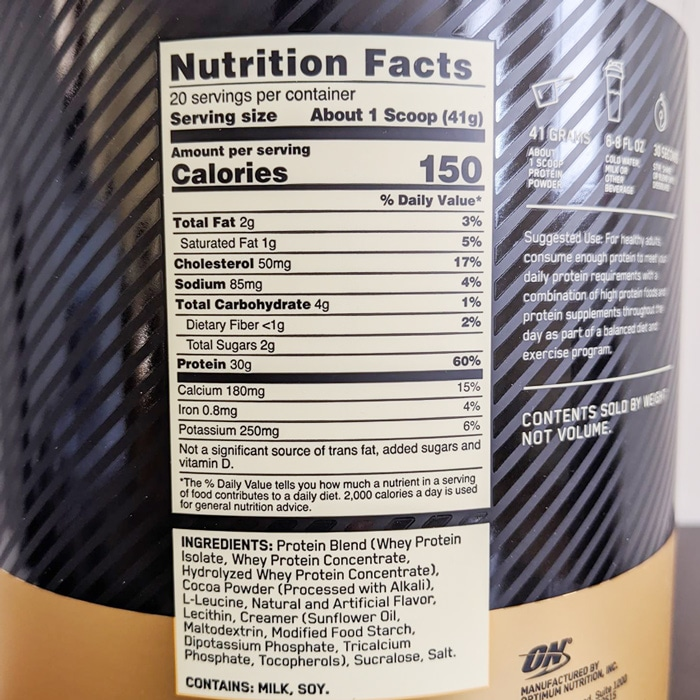 Fit 40 Protein Nutrition Facts