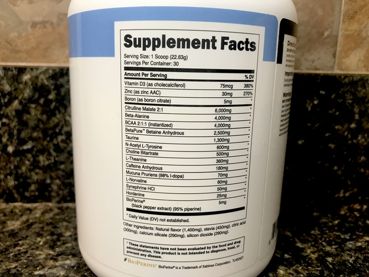 Bulk Pre-workout Ingredients