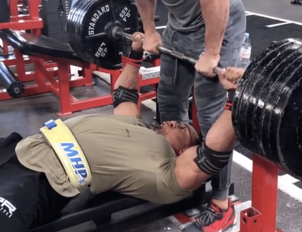 Larry Wheels Bench Press
