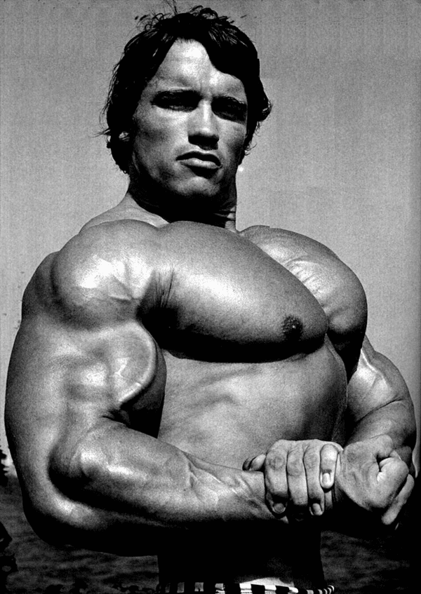 Arnold Schwarzenegger Chest Pose