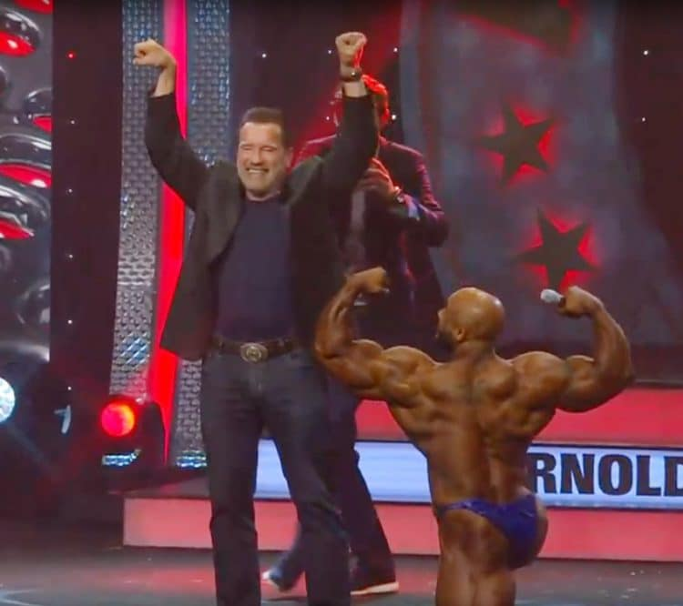 Arnold Schwarzenegger With Sergio Oliva Jr