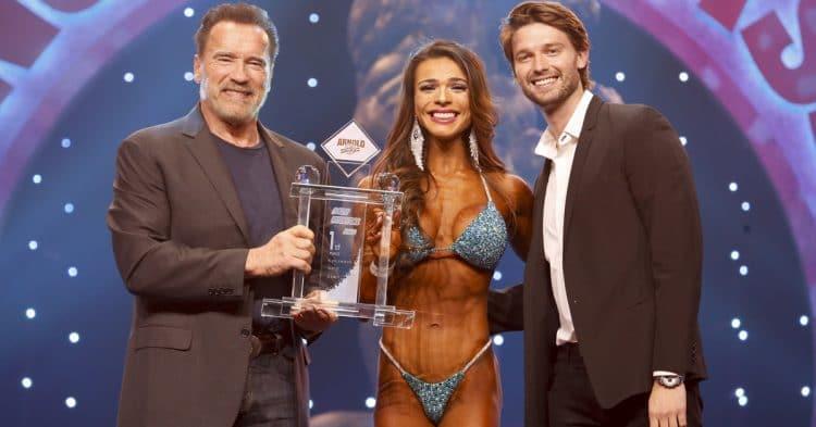 Bikini International Winner Elisa Pecini With Arnold Patrick Schwarzenegger