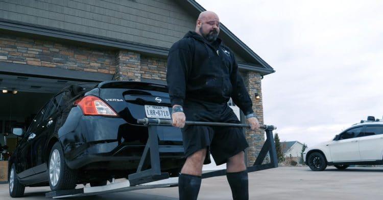 Brian Shaw Car Deadlift