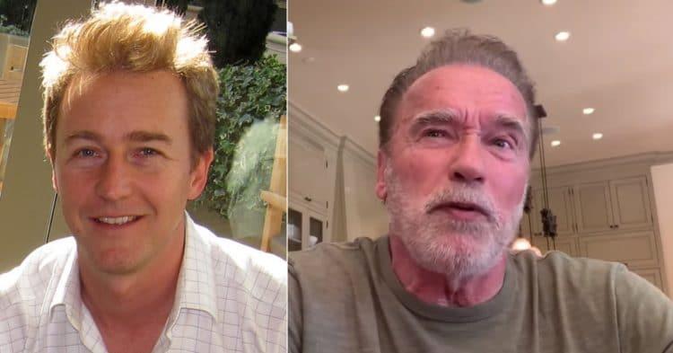Arnold Schwarzenegger and Edward Norton