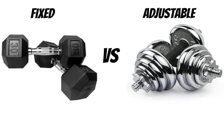 Dumbbell: Fixed vs. Adjustable