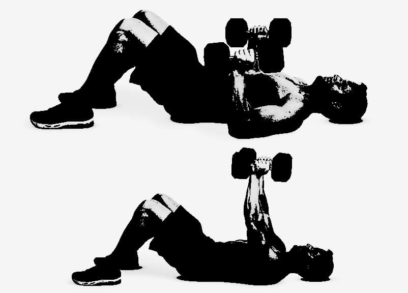 Dumbbell Floor Press Exercise