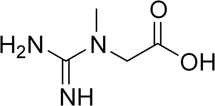 Structural Formula of Creatine