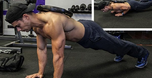Weighted Push Ups