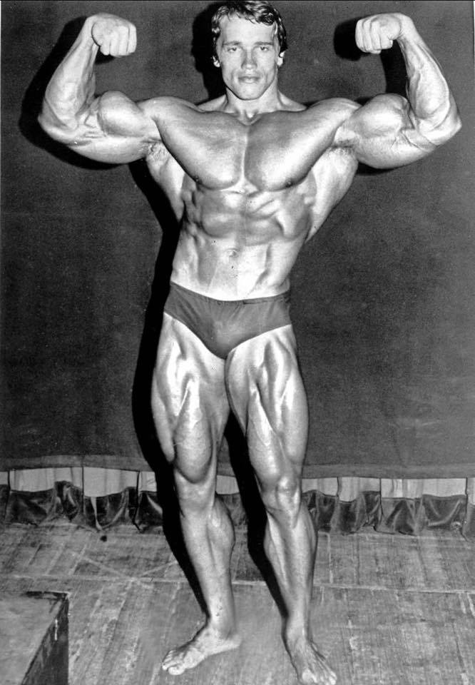 Arnold Schwarzenegger Front Double Biceps