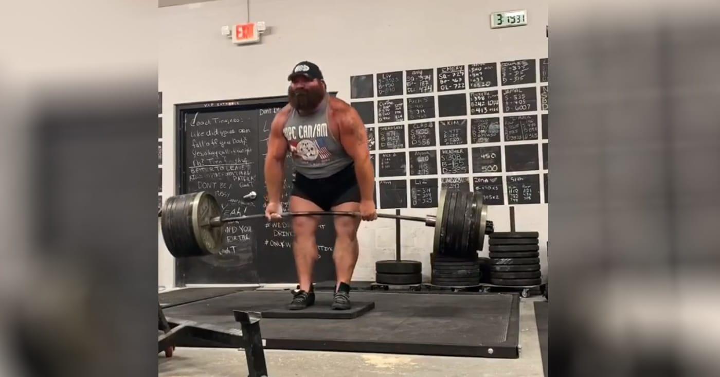 Watch Daniel Bell Deficit Deadifts Impressive 815lbs/370kg In Training Session