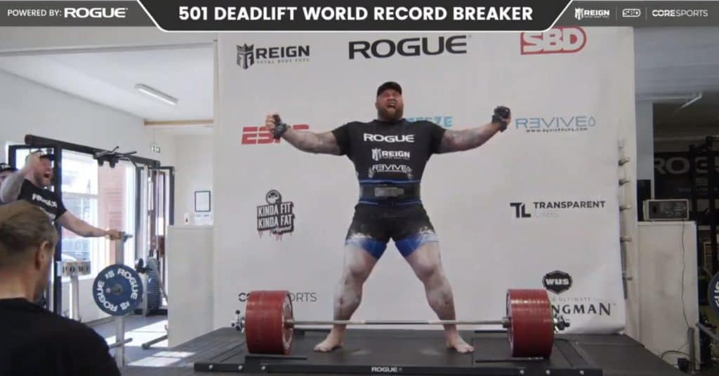 Hafthor Bjornsson breaks world record with 1,104-pound deadlift