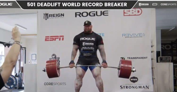 Hathor Bjornsson 501kg Deadlift