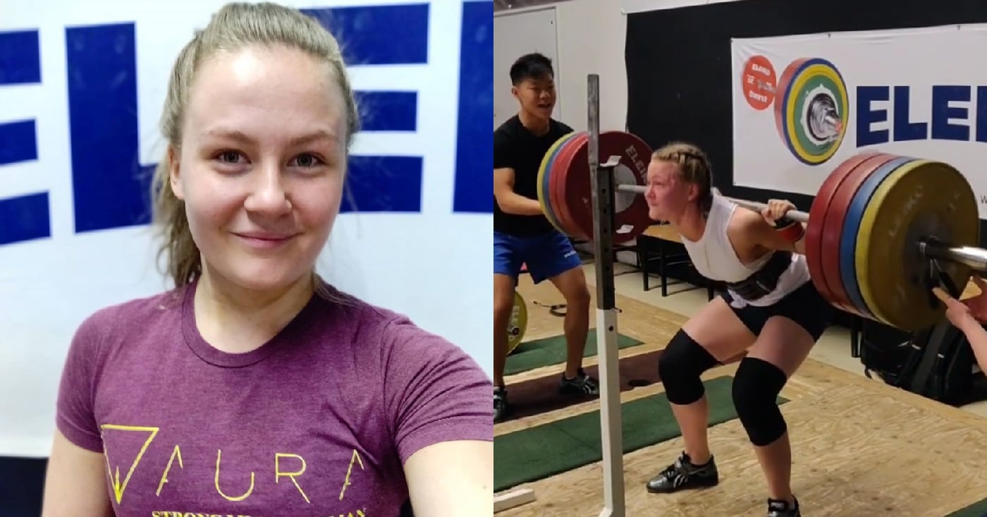 22-yo Powerlifter Ida Ronn Obliterates 419lb Squat Double!