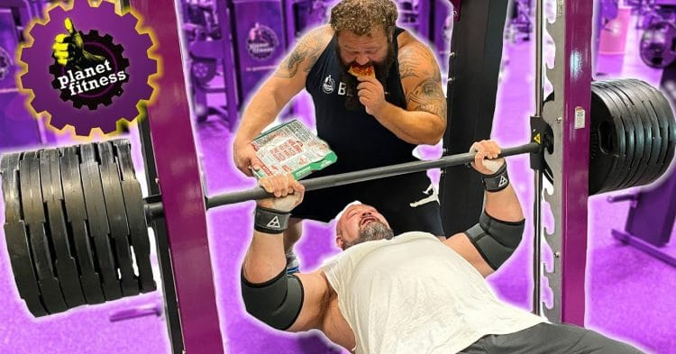 Brian Shaw And Robert Oberst At Planet Fitness
