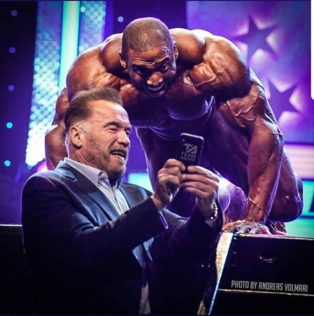 Cedric Mcmillan Pose With Arnold