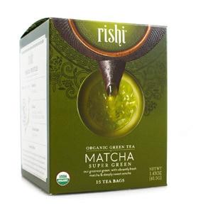 Rishi Organic Matcha Super Green Tea Bags