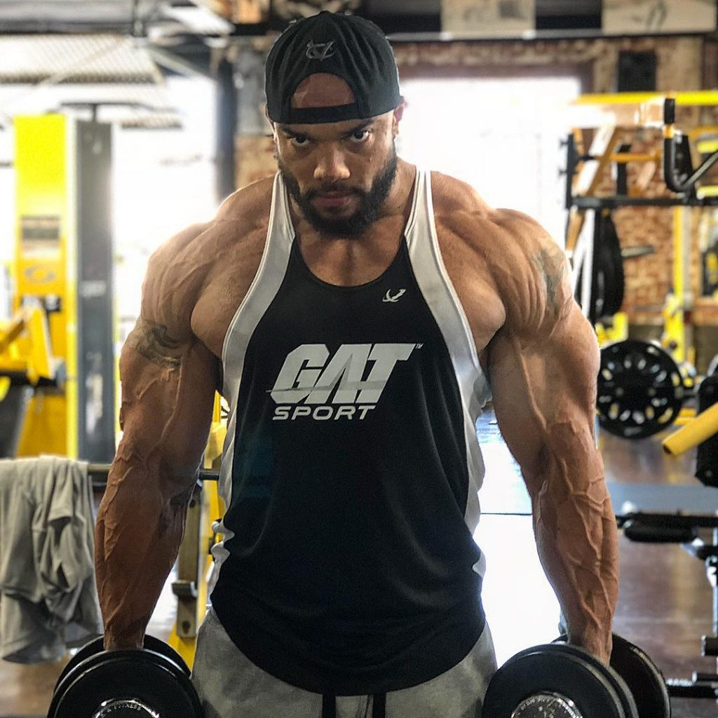 Sergio Oliva Jr Working Out