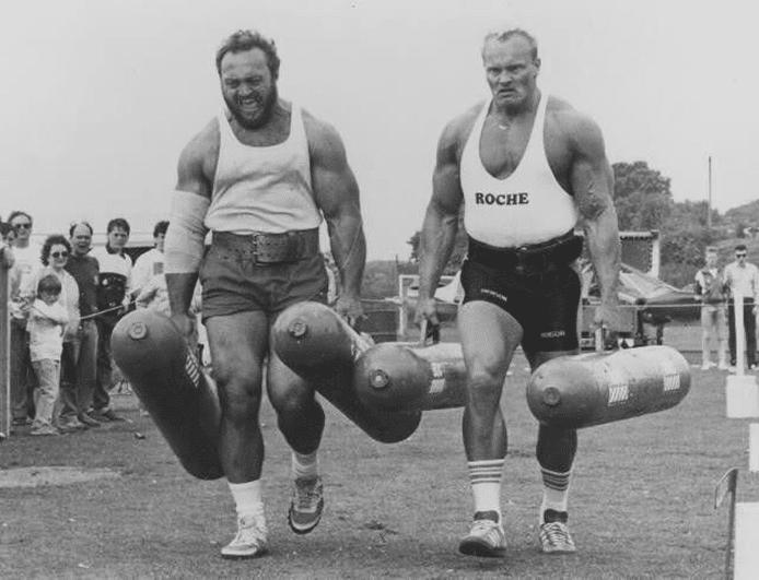 Strongman Jon Pall Sigmarsson vs. Bill Kazmaier Farmers Walk