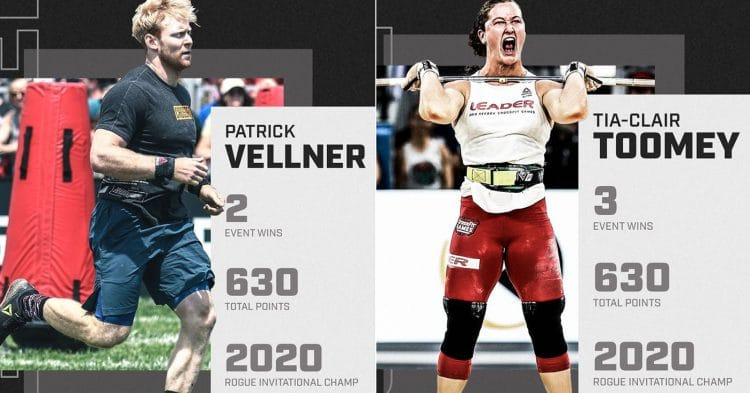 Toomey and Vellner Win Rogue Invitational CrossFit