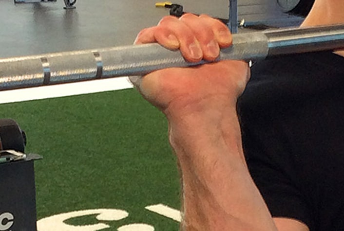 Use a false grip