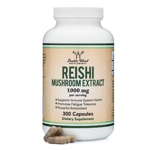 Double Wood Supplements Reishi Mushroom Extract Capsules