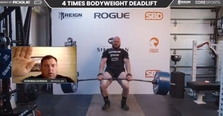 Mark Boyd 4x Bodyweight Deadlift Attempt