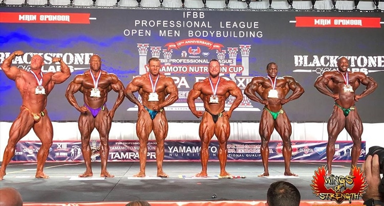 Men's Open Bodybuilding Results