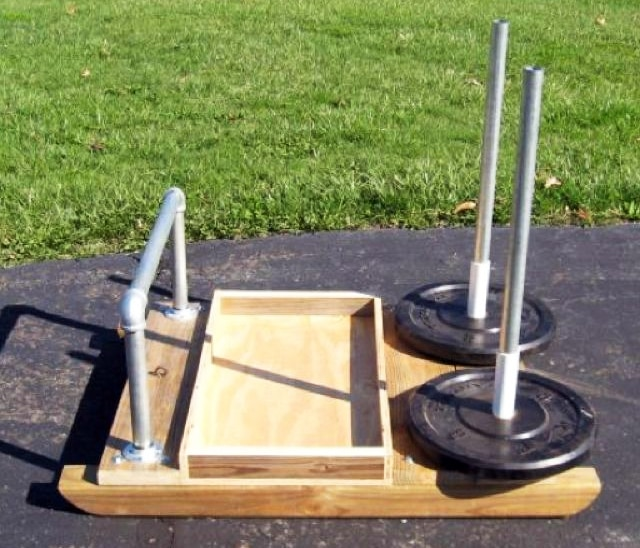 Weighted Wood Sled